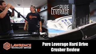 Pure Leverage Hard Drive Crusher Review for Data Destruction