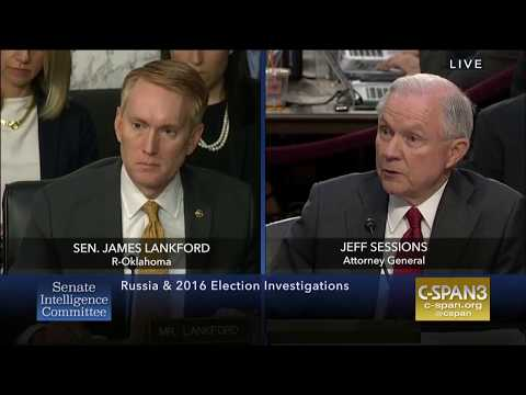 Senator Lankford Questions Attorney General Sessions at Senate Intel Hearing