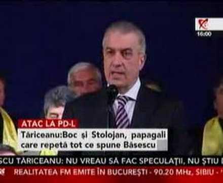 Tăriceanu: Boc şi Stolojan sunt papagalii lui Băsescu