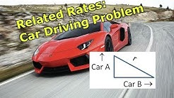Related Rates: Car Driving Problem