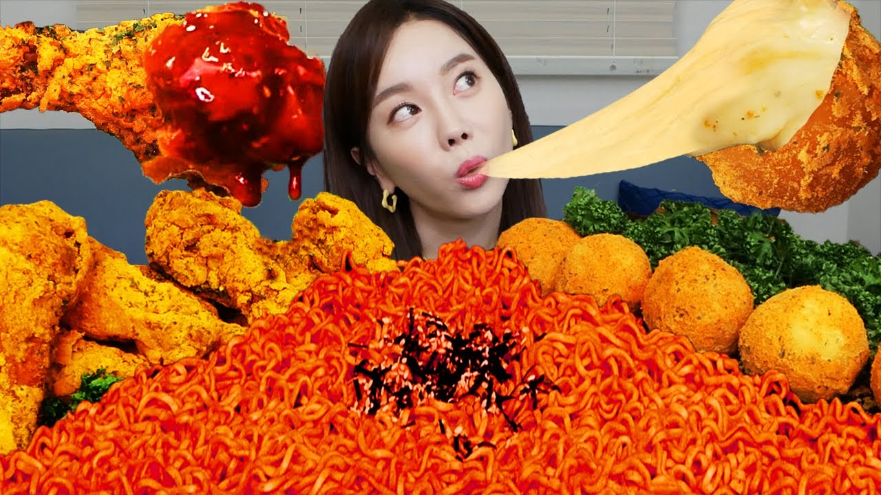 [Mukbang ASMR] 직접만든 뿌링클 치킨 🍗 치즈볼 Bburinkle Fried Chicken & Cheese Ball Recipe Eatingshow Ssoyoung