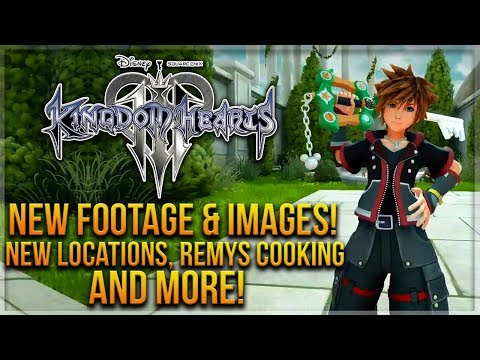 Kingdom Hearts 3 New Footage & Images