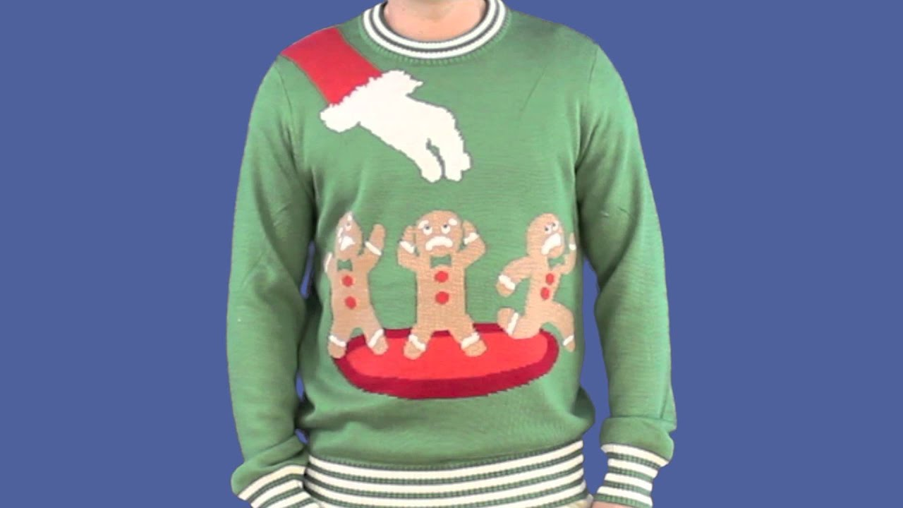 Ugly Christmas Sweater Gingerbread Nightmare Sweater Green) by Tipsy Elves  , YouTube