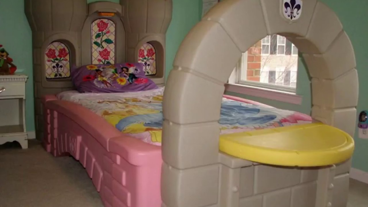 Step 2 Princess Castle Toddler Twin Bed - YouTube