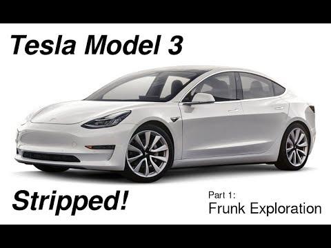 Tesla Model 3 Stripped - Frunk Exploration