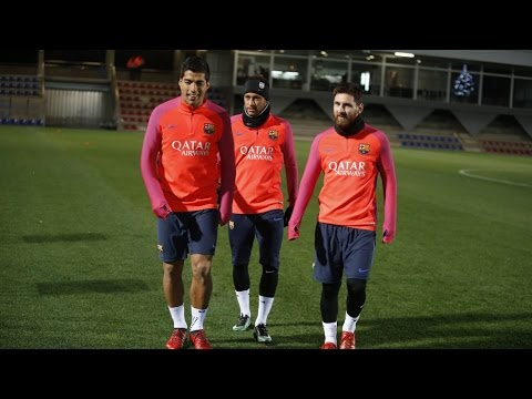 FC Barcelona training session: First training of 2017 with the full squad