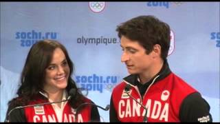 Tessa virtue and scott moir - sochi 2014 - canadian olympic figure skating team