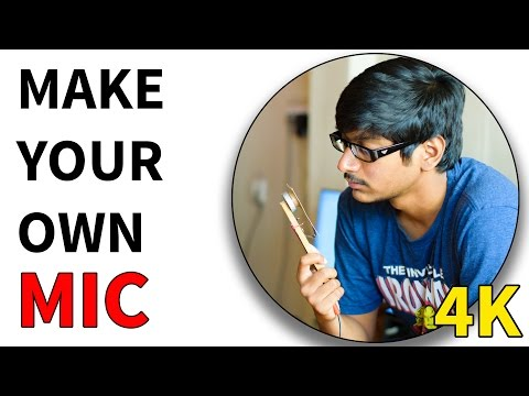How to make Microphone at Home Using Business Card - Very Easy!