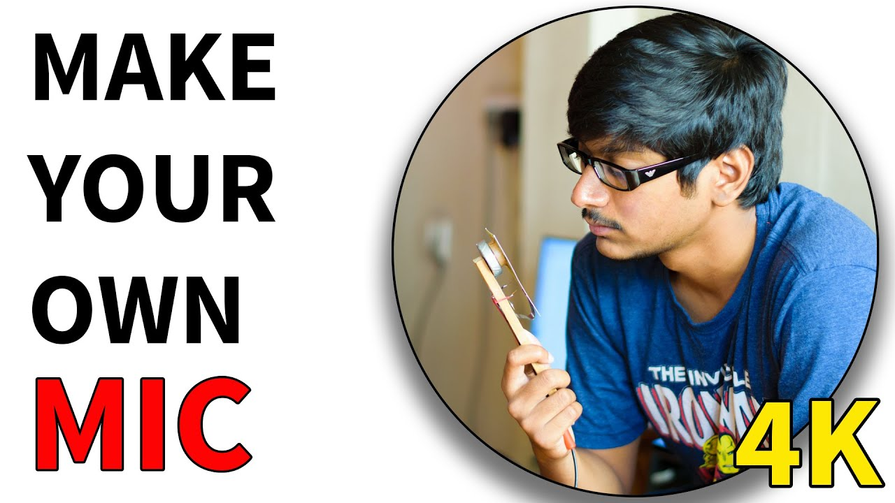 How to make Microphone at Home Using Business Card Very Easy