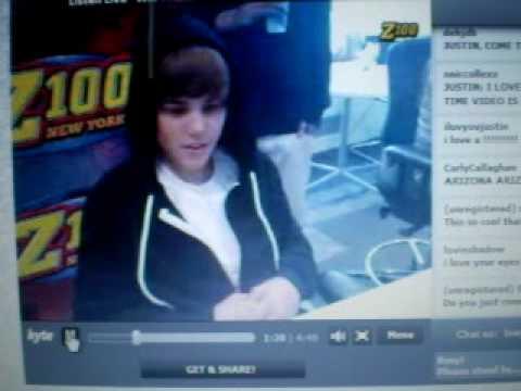 Live Chat ( Z100 ) - Justin Bieber pt. 1 - YouTube