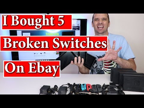 5 Broken Nintendo Switches From Ebay - Can I Fix Them and Make Money??? Part 1