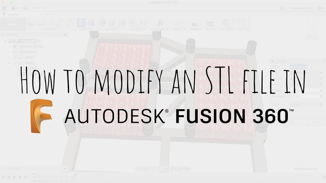 How to modify an STL file in Fusion 360