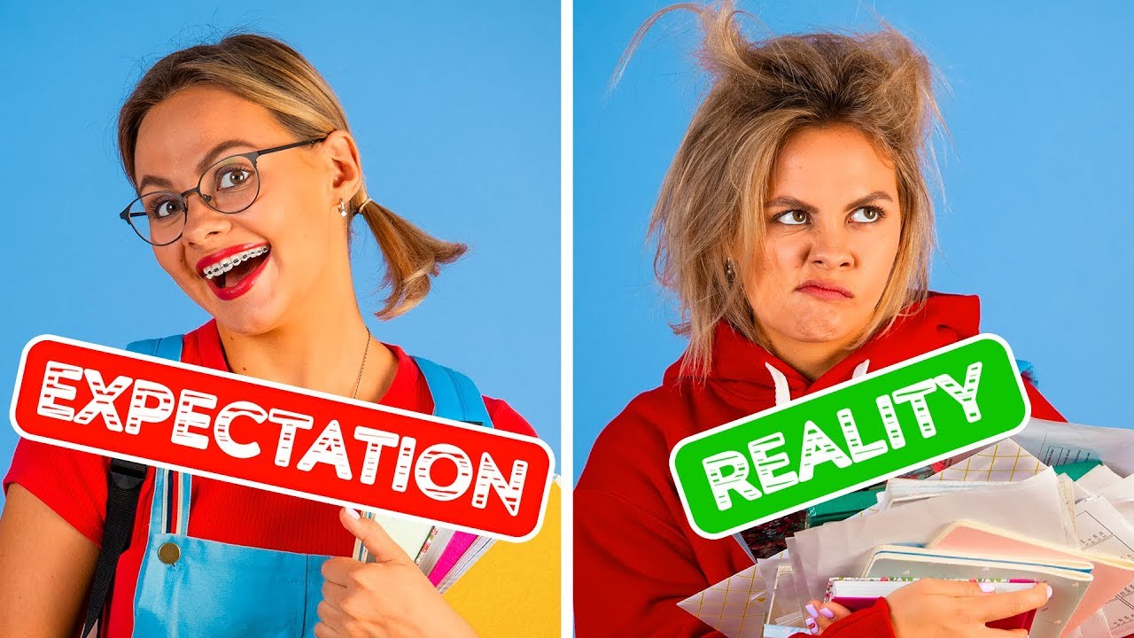Download BACK TO SCHOOL EXPECTATION VS REALITY    Funny Situations by 123 GO!