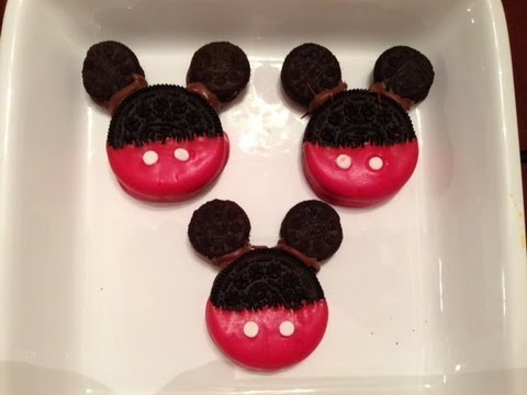 How To Make Mickey Mouse Cookies Youtube