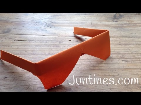 Origami fácil: Gafas de papel