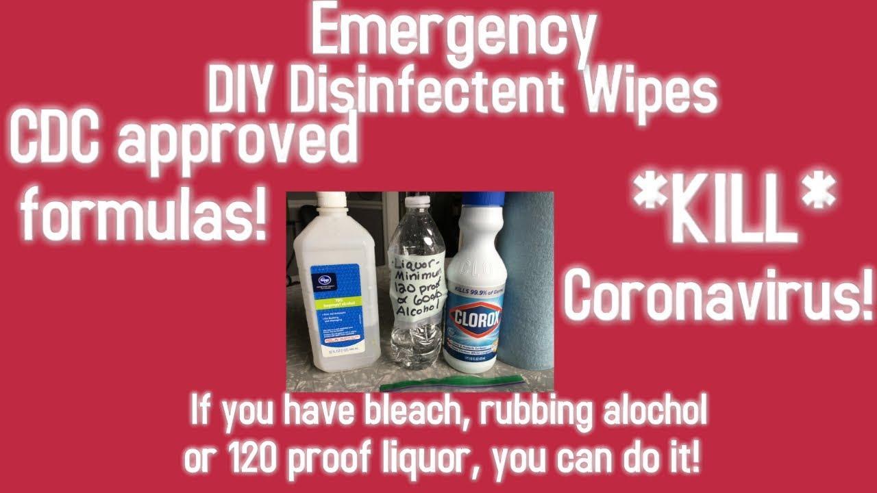 DIY Disinfectant Wipes 3 WAYS! Emergency DIY Wipes Hack Best Disinfectant  Wipes Recipe