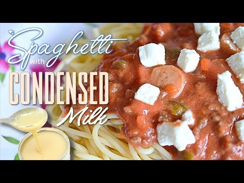 Spaghetti with Condensed Milk (Filipino Style) | MFK