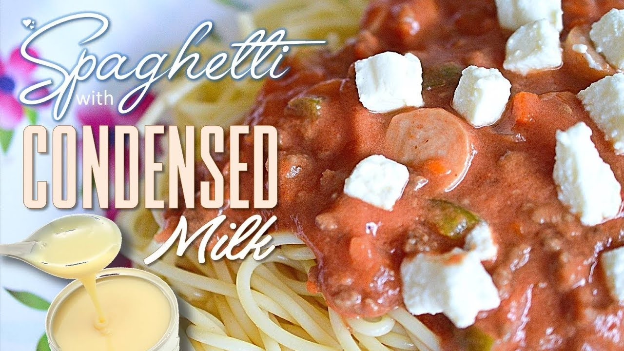 How to cook spaghetti sauce with condensed milk