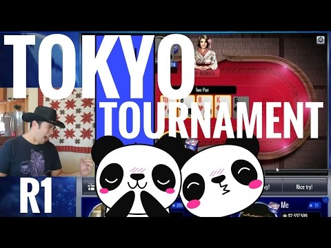 How To Win Tokyo Tournament Round 1 - WSOP App Game : Pre-Flop Panda Blues