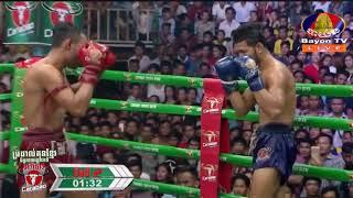 Phal Sophorn Cambodia Vs Bukjor Sor Anucha, Thailand, Khmer Warrior Boxing Bayon TV Boxing 26 August