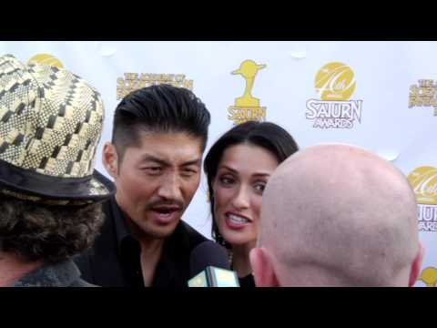 40th Annual Saturn Awards Brian Tee and Mirelly Taylor Tee Red Carpet Interview