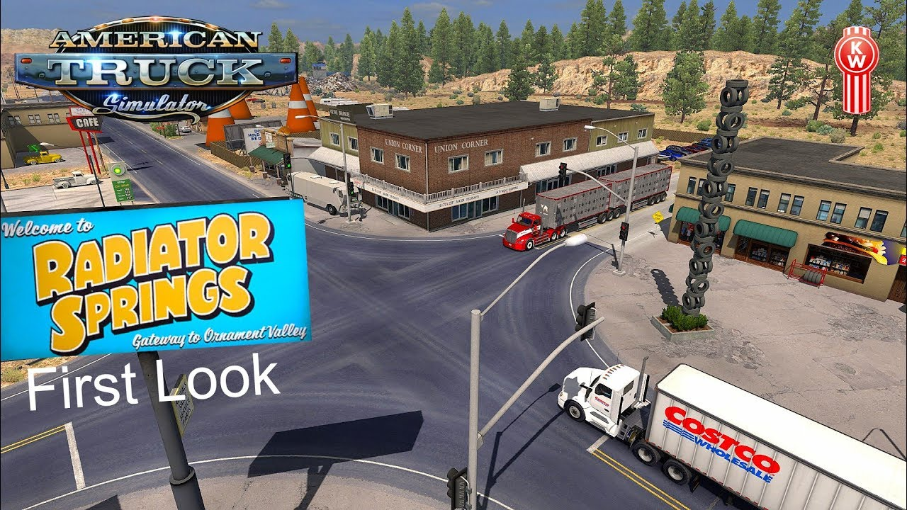ATS I Radiator Springs Map I First Look ★ Australian Kenworth T610 ★ #155  US Truck Tour [Deutsch/HD]