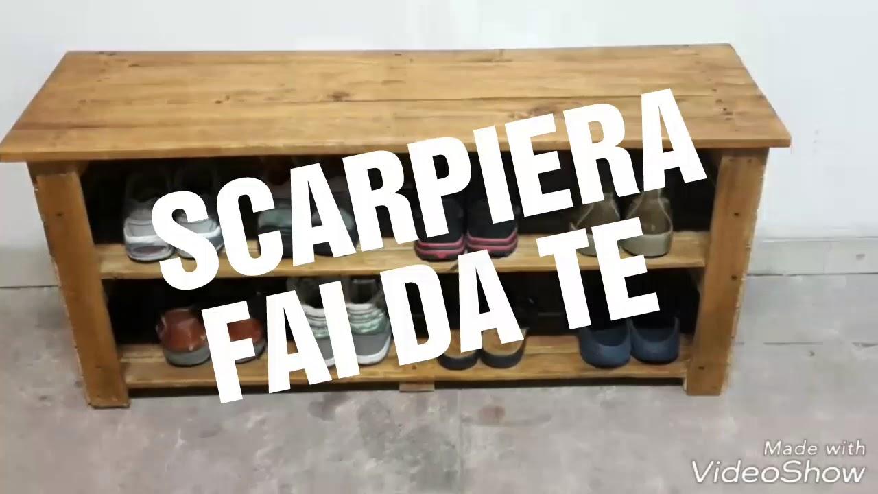 Scarpiera fai da te youtube for Scarpiera con pallet