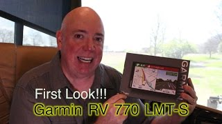 NEW Garmin RV 770 LMT-S GPS | FIRST LOOK! | Best RV GPS?