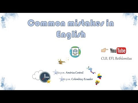 Common mistakes in English - Bethlemite Students' Club