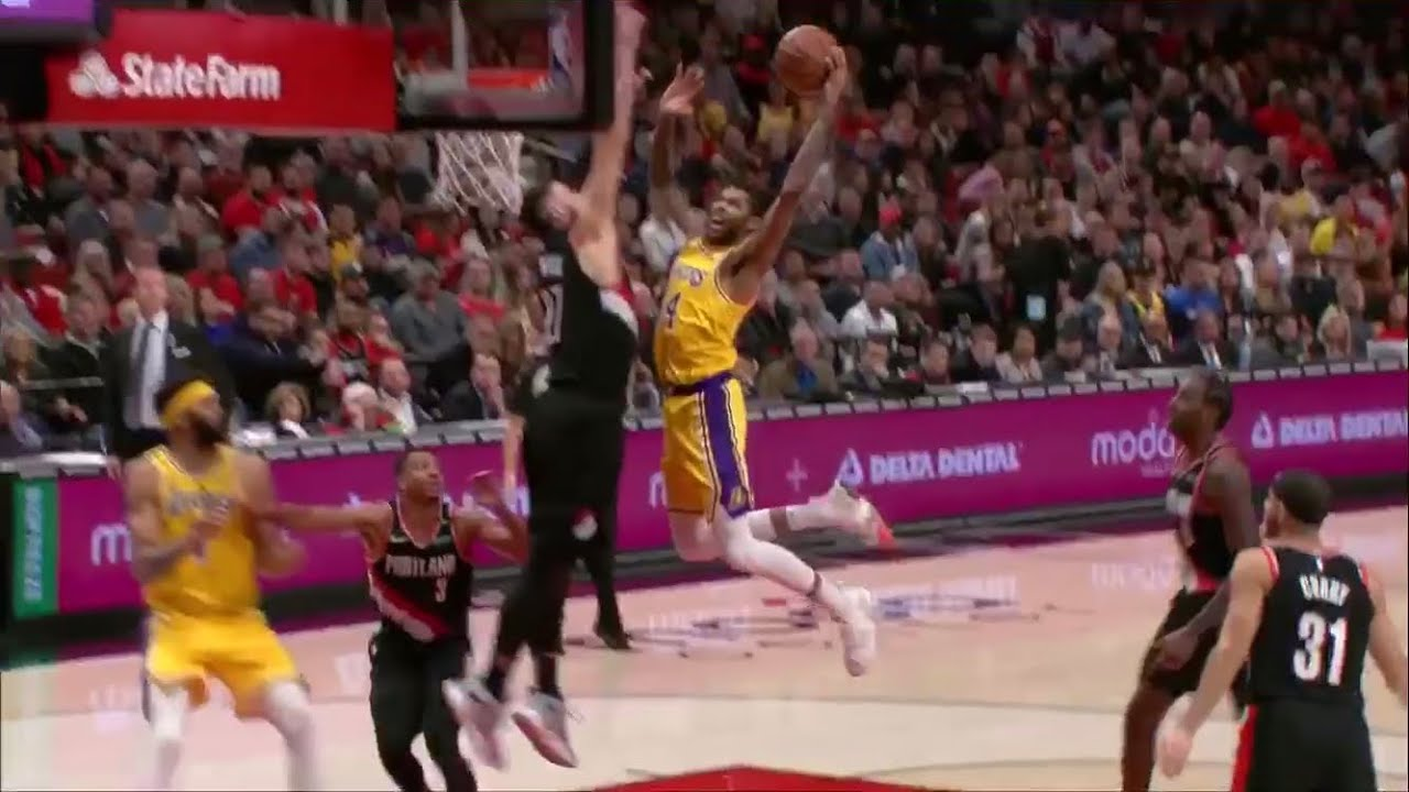 9aa5efe6301f Brandon Ingram Dunks on Jusuf Nurkić (Trail Blazers vs. Lakers ...