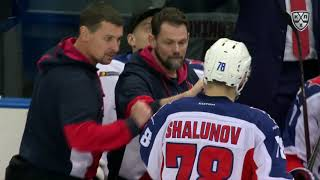 Maxim Shalunov makes remarkable shot from his back to beat Enroth