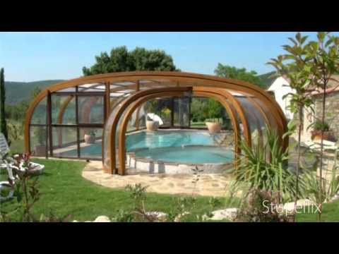 Gamme abri piscine bois by sun abris youtube for Abri piscine bois