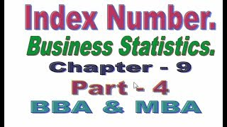 Index Number, Bangla Tutorial Part 4, Business Statistics.