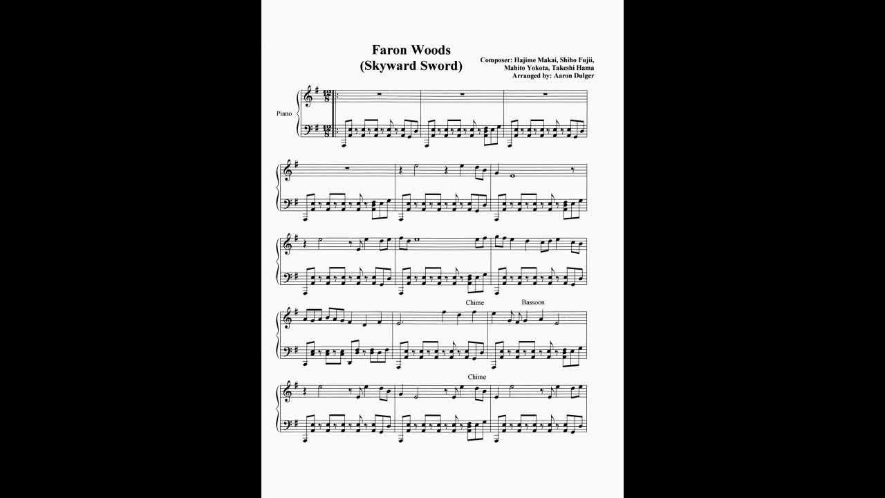 Faron Woods Sheet Music (Correct version) - YouTube