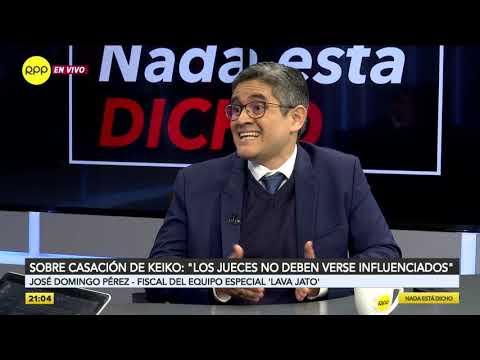 """Domingo Pérez sobre José Luis Lecaros: """"Ha vertido opiniones que no son pertinentes"""""""
