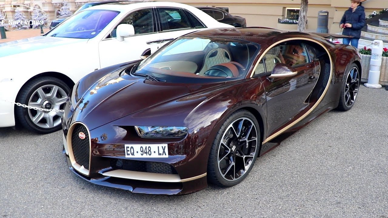 1500 HP BROWN CARBON & GOLD BUGATTI CHIRON ! - YouTube