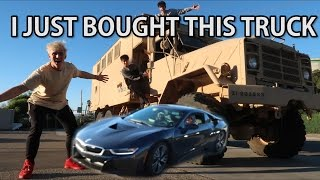 RUNNING OVER A BRAND NEW BMW i8
