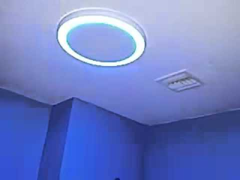 Home Netwerks Bluetooth Music Bathroom Light & Fan - YouTube