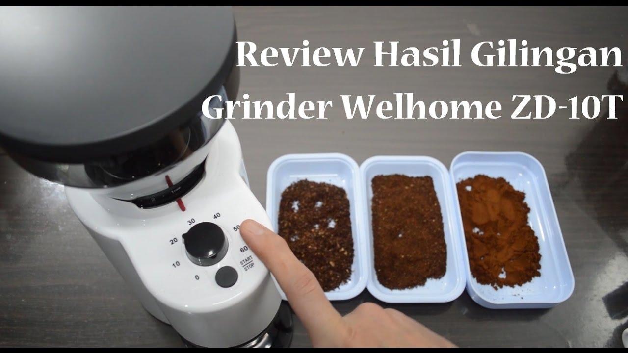 Welhome Zd 16 Conical Burr Coffee Grinder Daftar Harga Terbaik 10 With Timer Black Review Hasil Gilingan 10t Tentang Kopi