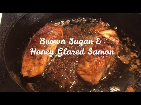 Brown Sugar & Honey Glazed Salmon| Quick & Easy Recipe