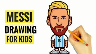 How to Draw Lionel Messi for KIDS