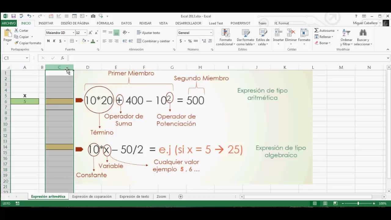 Fórmulas y Funciones 20. Conceptos Básicos. Excel 2203