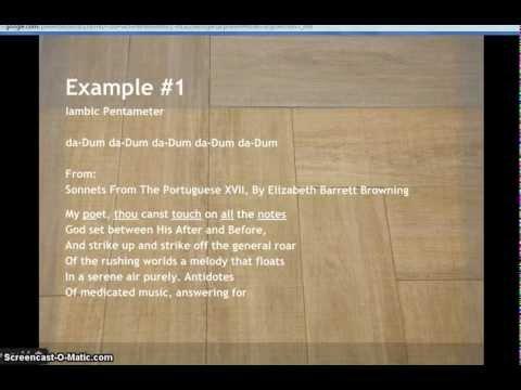 Examples Of Meter In Poetry YouTube