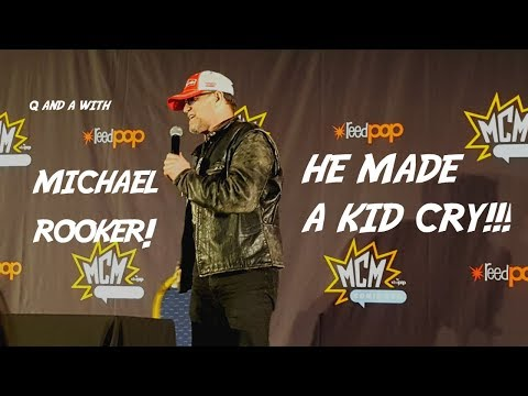 Q and A with Michael Rooker! MCM ComicCon Birmingham  Day 1  He made a kid cry!!