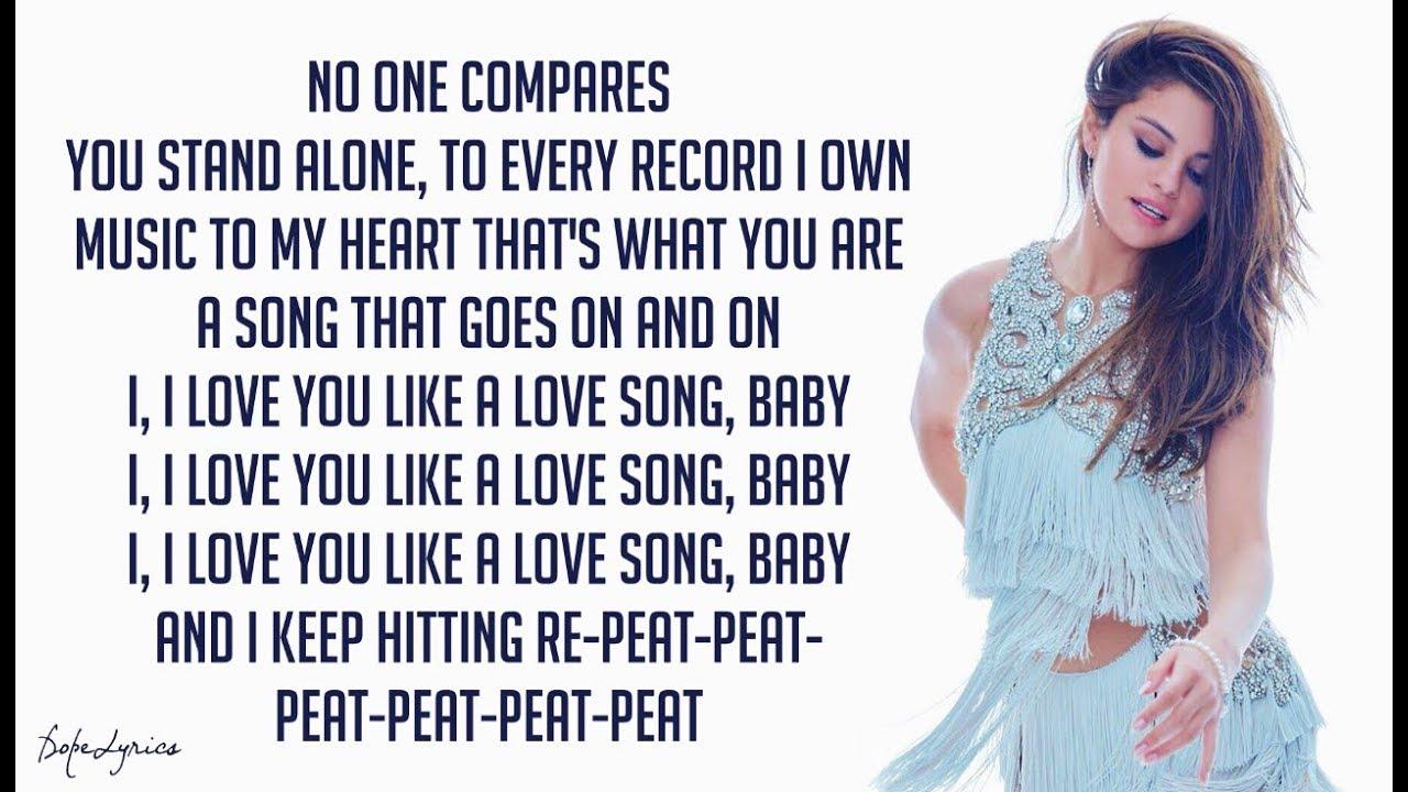 Selena Gomez The Scene Love You Like A Love Song Lyrics Chords Chordify