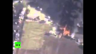 Combat cam: Russian airstrikes target gasoline trucks convoy in Aleppo province