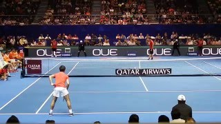 Carlos Moya vs Fabrice Santoro | Final | IPTL 2015 | Court Level View