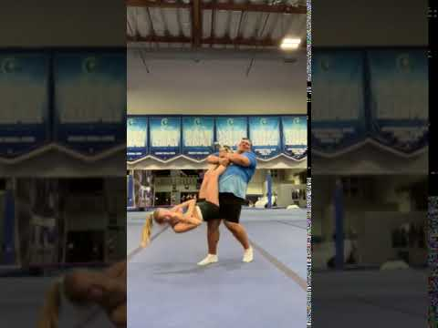 Pablo - Guy Catches Girl Before She Hits the Floor While Doing Cheerleading Stunt