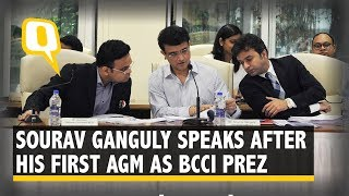 BCCI President Sourav Ganguly Speaks After the Annual General Meeting   The Quint