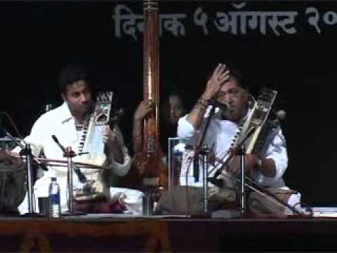 Three Sarangi, Ustad Sultan Khan shaab with his son Sabir khan and nephew Dilshad Khan live in Pune